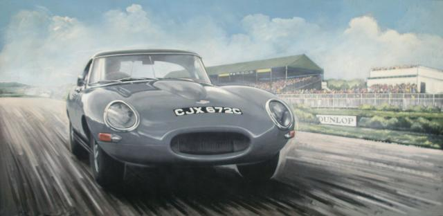 Tony Upson, 'Jaguar E-Type at Goodwood',