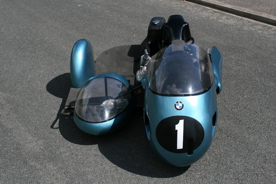 The ex-Georg Auerbacher, Hermann Hahn,c.1970 BMW 500cc Rennsport Racing Motorcycle/Sidecar Combination