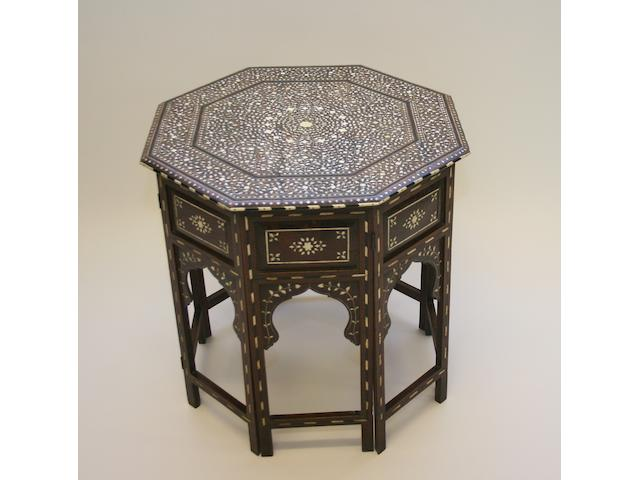 A 20th Century Middle Eastern octagonal occasional table