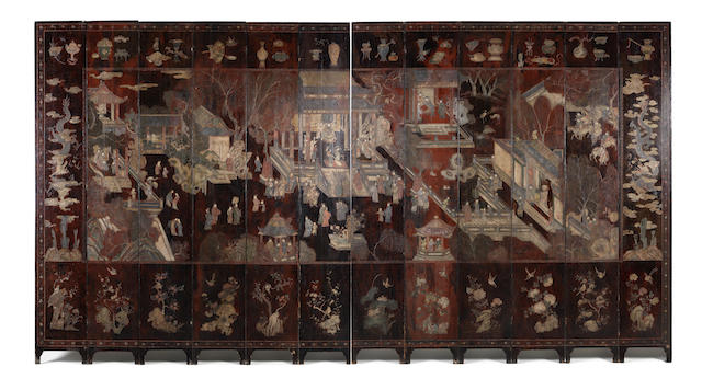 2 large Oriental screens