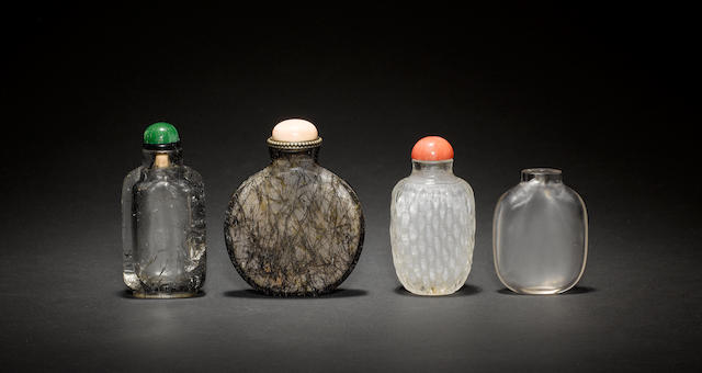 Four Chinese snuff bottles, including:
