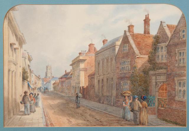 Thomas Smythe (British, 1825-1906) An Ipswich street scene