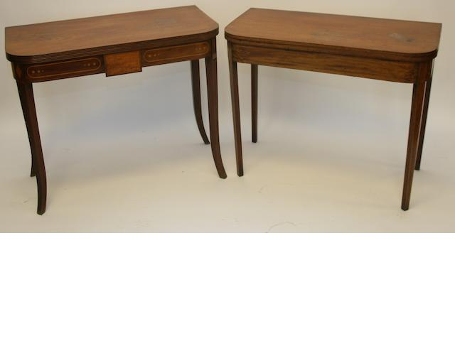 Two Victorian mahogany tea tables