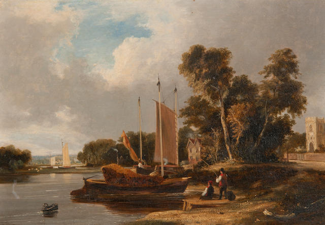 George Vincent (British, 1796-1831) 'On the River Yare, near Norwich'