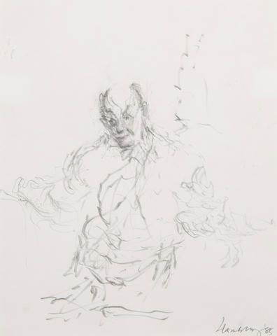 Maggi Hambling (British, born 1945) Study of Sir George Solti conducting at Snape