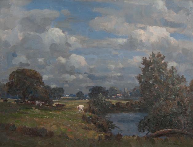 Campbell Mellon (British, 1876-1955) 'Writtle Church, Nr. Chelmsford'