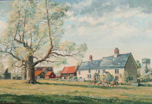 Cavendish Morton (British, 1911-2010) Manor House Farm, Peasenhall