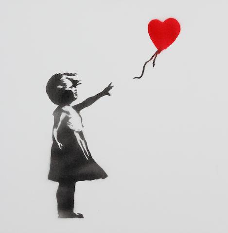 1 oil - Banksy - Girl and Kite