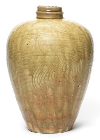 A ko-Seto ovoid vase Late Kamakura Period