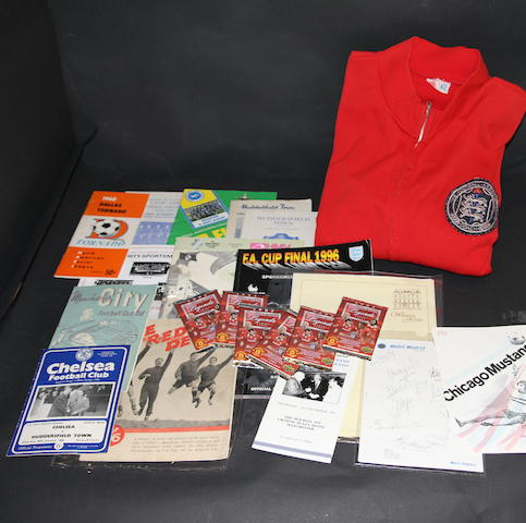 A collection of programmes and souvenirs - Ray Wood