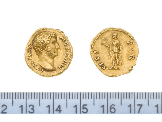 Hadrian (AD 117-138), Gold Aureus, Rome mint (AD 137), 7.2g, HADRIANUS AUG COS III P P, head bare right,