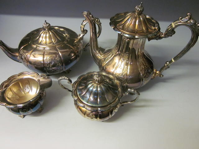 A four-piece tea service, Birmingham 1971,   (4)