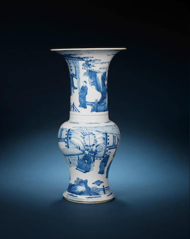 A blue and white yenyen vase Kangxi