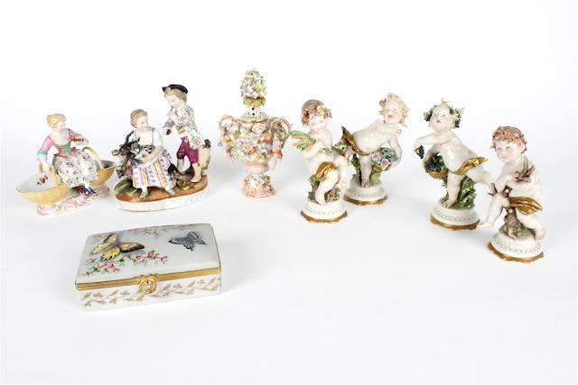 A small group of Continental porcelain