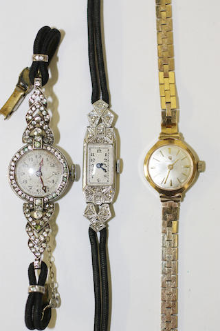 Three wristwatches