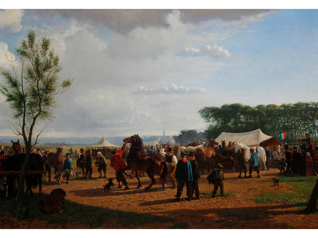 Cornelis Albert Johannes Schermer (Dutch, 1824-1915) The horse fair