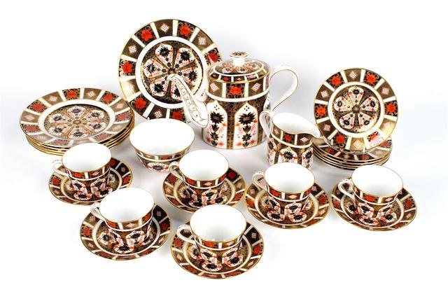 A Royal Crown Derby Imari porcelain tea service