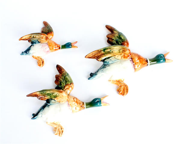 A set of three Beswick ducks