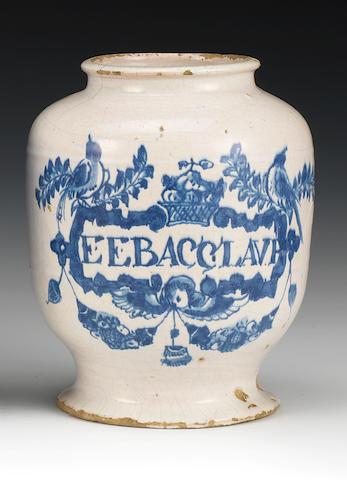A London delftware pharmacy jar
