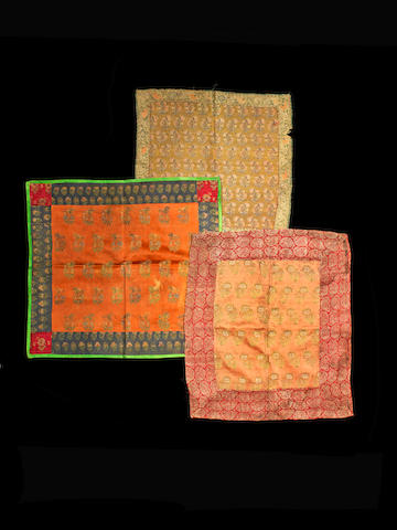Five Safavid woven silk Fragments Persia, 17th/ 18th Century(5)