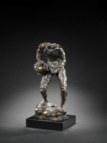 Émile-Antoine Bourdelle (French, 1861-1929) L'homme à la cruche 36.8cm (14 1/2in) high (excluding base)