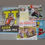 Six motorcycling posters,