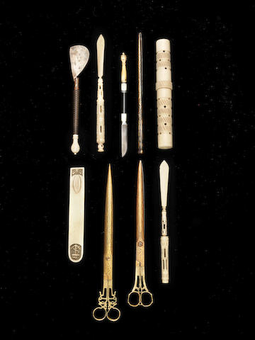 A group of Ottoman calligraphic Instruments Turkey, 19th Century(9)