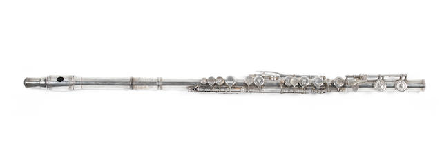 A silvered and engraved Concert Flute by Rudall Rose Carte & Co, London, circa 1865 (2)