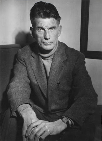 Brassai (Hungarian/French, 1899-1984) Samuel Beckett, 1957 29.3 x 21.2cm (11 9/16 x 8 3/8in).