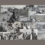Assorted 1950s motorcycle race photographs,