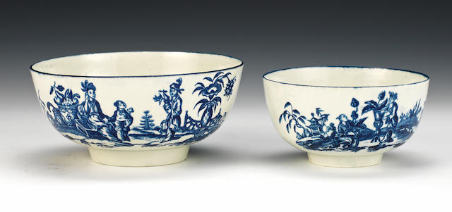 Two rare Worcester bowls