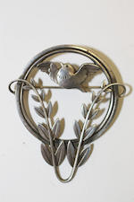 A collection of items including a Georg Jensen Danish silver brooch