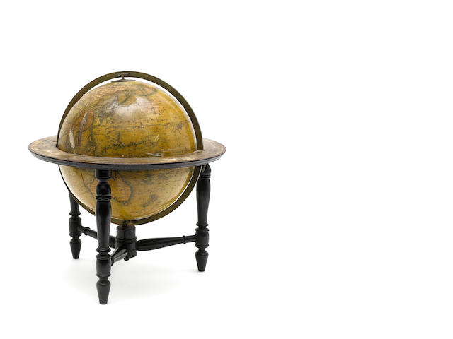 A Newton's New & Improved 11.1/2-inch terrestrial table globe, circa 1870,
