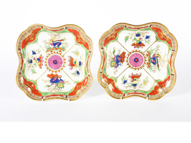 A pair of Chamberlain dessert dishes, circa 1820
