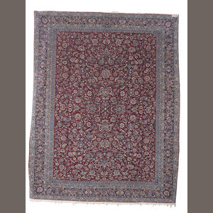 A pair of Nain carpets, Central Persia, circa 1940, 13 ft x 10 ft 4 in (397 x 315 cm) excellent condition throughout
