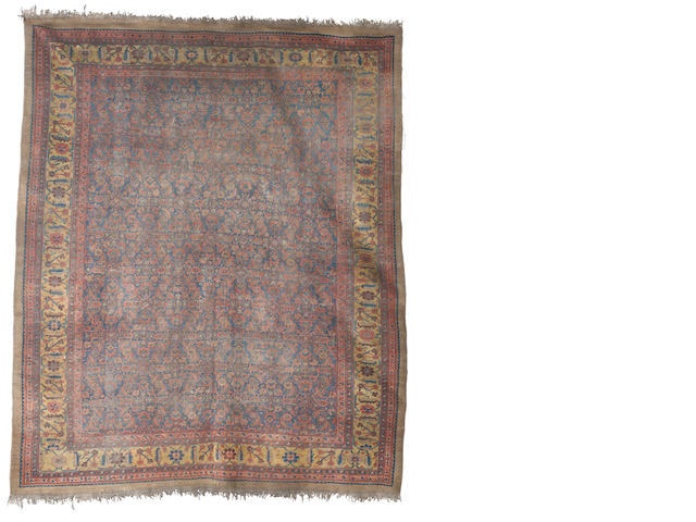A Bakshaish carpet, West Persia, circa 1890, 14 ft 1 in x 11 ft 8 in (430 x 356 cm) some wear and damage
