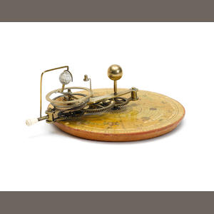 A fine finger orrery, English, circa 1800,