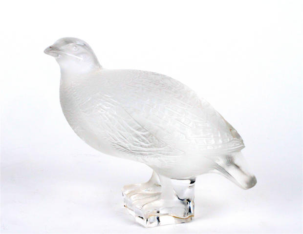 A Lalique model of a partridge