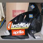 A 1995/96 Aprilla 250 Biaggi Chesterfield Replica lower fairing set,