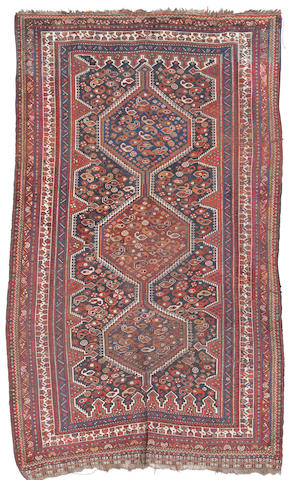 A Kashgai rug, South West Persia, circa 1900, 8 ft 6 in x 5 ft (256 x 152 cm) some minor wear