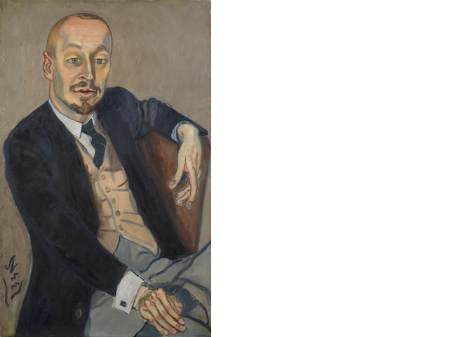 Alice Neel (1901-1984) The Baron   1959  signed oil on canvas 86.5 by 54 cm. 34 by 21 1/4 in.