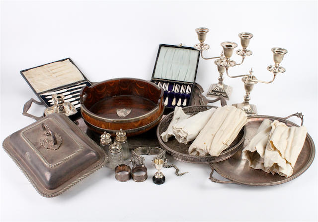 A collection of electroplate 19th century and later,  (qty)