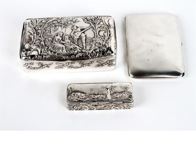 A late Victorian silver mounted jewel box By Henry Matthews, Birmingham, 1901,  (3)