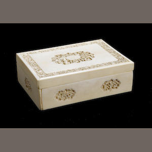 A 19th century Cantonese ivory box