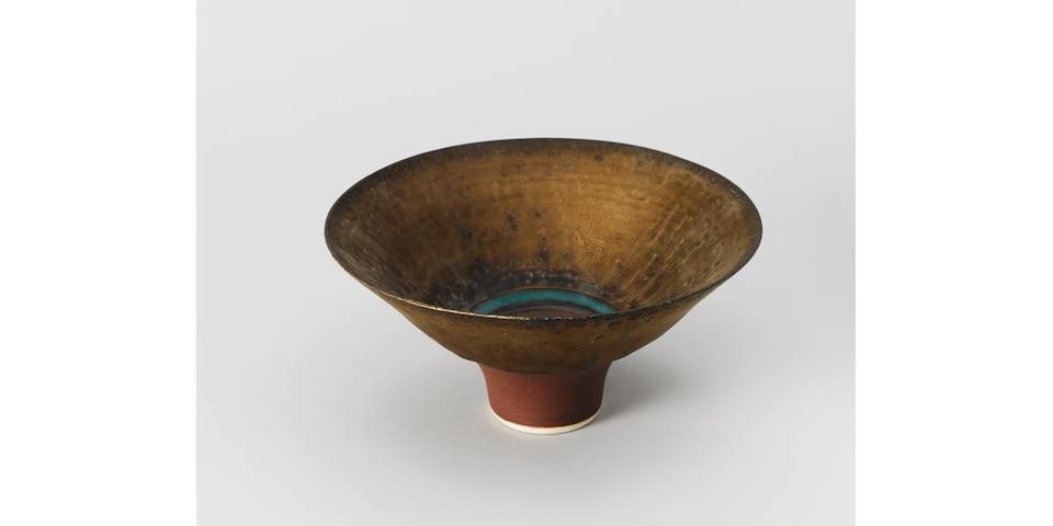 Flared porcelain bowl Lucie Rie circa 1980