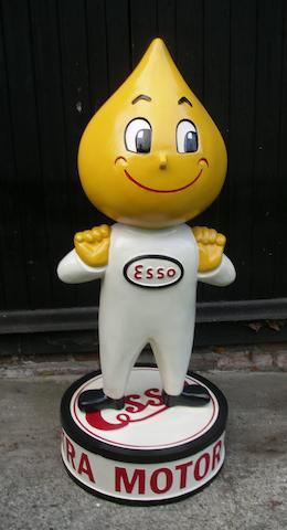A hand-painted Mr Drip standing forecourt figure