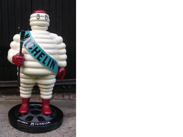 A hand-painted Mr Bibendum standing forecourt figure