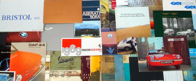 A collection of ephemera for car marques