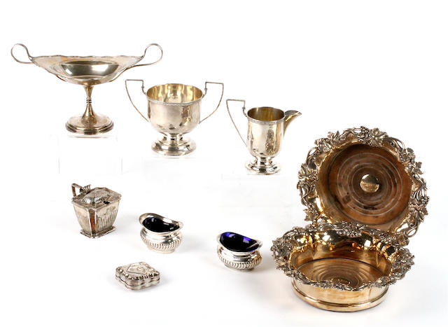 A small quantity of silver and electroplate