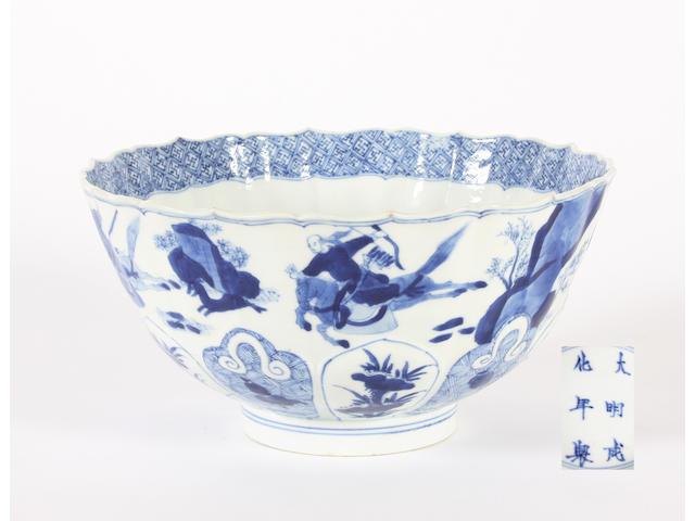 A Chinese blue and white bowl, Kangxi